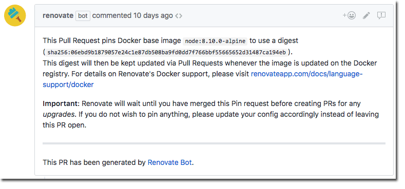Overcoming Docker's mutable image tags - Renovate
